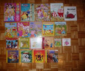 Livres: cherche et trouve, Disney, Caillou, à colorié etc