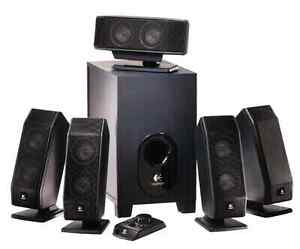 Logitech X-540 5.1 Surround Sound Speaker System with Subwoofer West Island Greater Montréal image 1