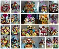 Fruit baskets / Cake pop arrangements