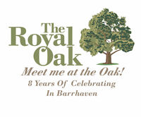 Part Time Servers for the Royal Oak in Barrhaven