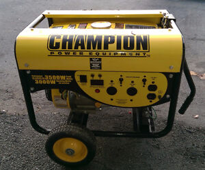 Champion Portable Generator + connection cables