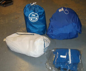 Good used sails,  boom cover,  boom tent