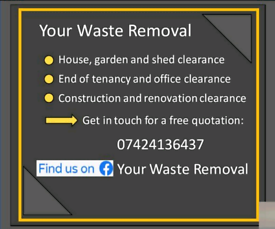 Waste removal/House clearance