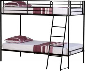 Fast Delivery Metal 3Ft Bunk Pay on Delivery Mattress options Call Today
