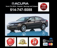 Acura TLX – Bearings and Calipers • Roulements et étriers