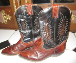 Vintage All Leather Cowboy Boots