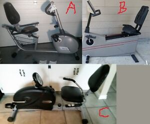3 Recumbent Exercise Bikes
