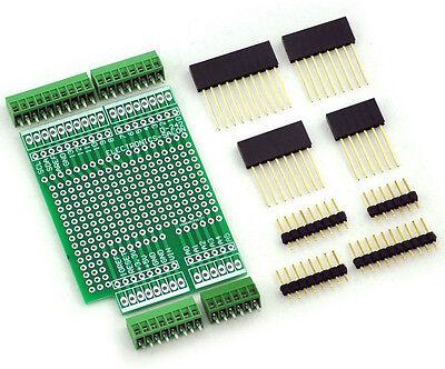 "Prototype Screw Shield Board Kit For Arduino UNO R3, 0.1"" Mini Terminal Block."