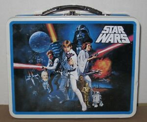 Limited Edition Star Wars Tin Lunch Box w/ Sandwhich Cutters