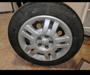 Set of 4 All Season Tires on Rims-195/60/R15-3/4 tred-$275
