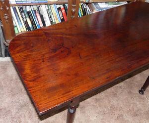 New Price. Georgian Mahogany D-End Table. Antique Kingston Kingston Area image 5