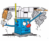 Gas furnace cleaning- 80$ plus tax