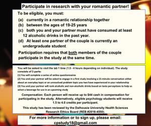 Research Study for Undergraduate Romantic Couples