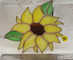 Sunflower stained glass