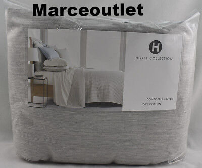 Ash Modern Bed - Hotel Collection Yarn Dyed 525 Thread Count Cotton KING Duvet Ash Gray