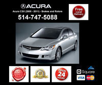 Acura CSX - Brakes and Rotors • Freins et Disques