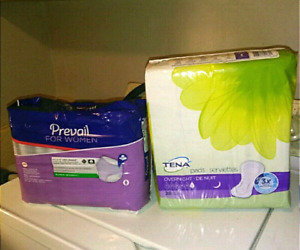 Women's 50 packs New/Sealed incontinence underwear and pads