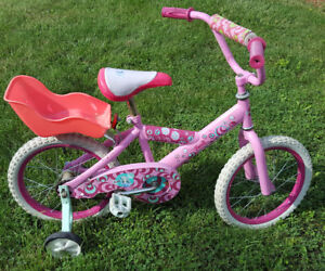 Bicycle with Training Wheels - Barbie