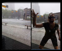 July 4 2015: photobombing my hail storm video at 17th?