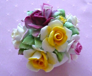 Royal Doulton Porcelain Floral Arrangement-1970's