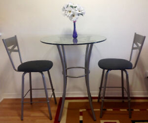 Bar Table with Two Chairs (Dinette Set)