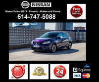 Nissan Pulsar - Brakes and Rotors • Freins et Disques
