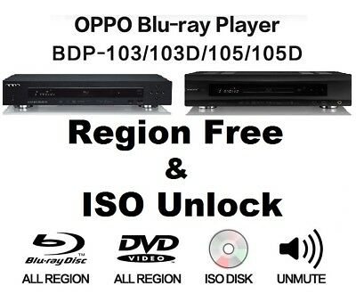 Oppo BDP-103(D) & 105(D) ISO File Playback, Region Free and Cinavia Unlock