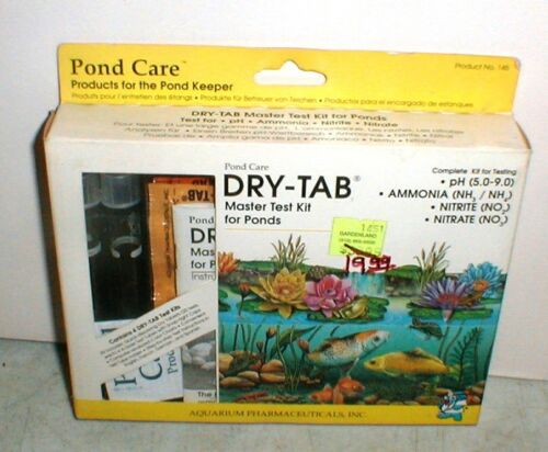 NEW API Pond Care Dry-Tab  Master TEST KIT for Ponds Tests pH-Ammonia-Nitrate