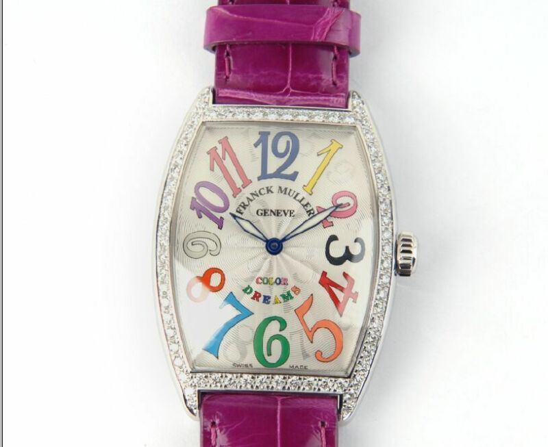 New Franck Muller 2852 QZ D 1R COL DRM Color Dreams Diamond Watch - watch picture 1