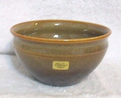 Rorstrand Sweden Brown Glazed Pottery Bowl