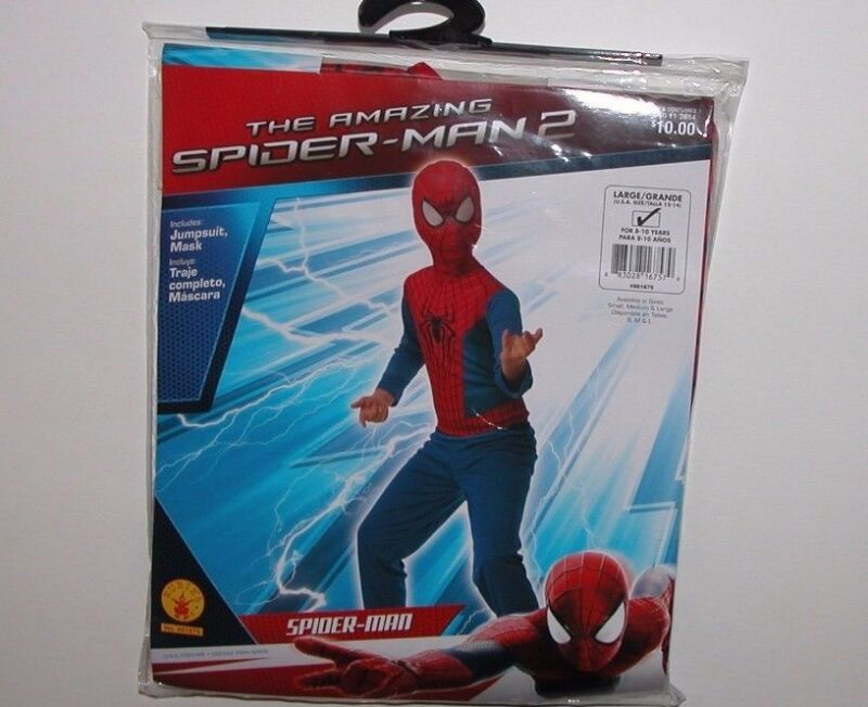 NWT NEW Halloween Costume Spiderman 12-14 L Boy