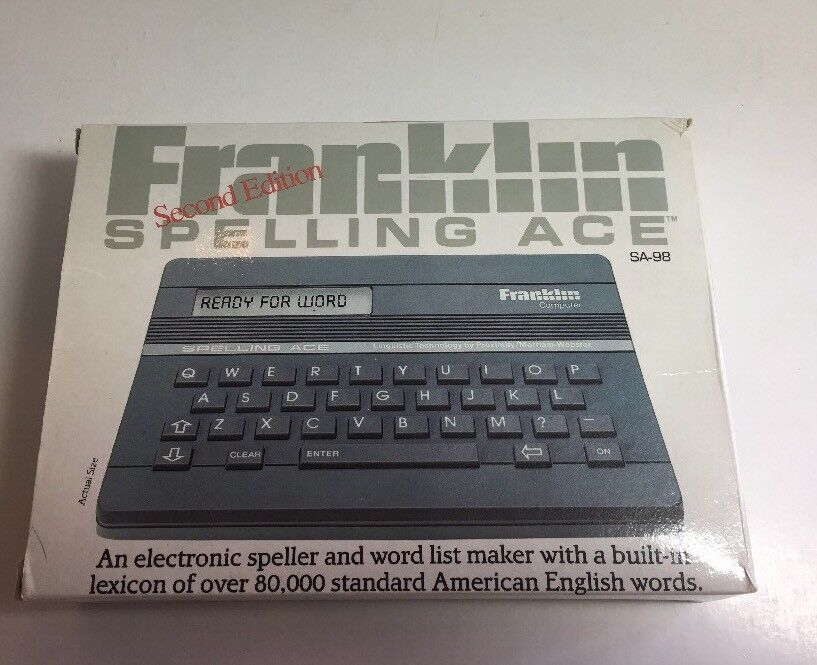 Franklin Computer Spelling Ace Linguistic Technology Merriam Webster SA-98 Spell