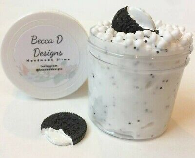 SLIME Oreo Cookie Scented 2 oz Hand Made in USA crunchy floam cheap