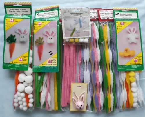 Easter Poms & Chenille Stems KITS - KEEP THE KIDS BUSY!!