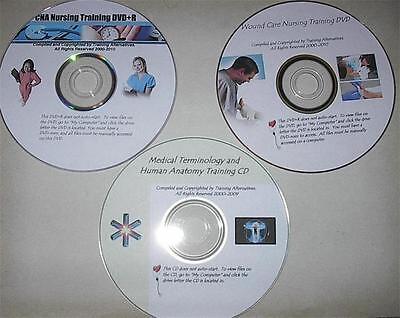 CNA 3 DVD Nursing Medical Training Wound Terms Anatomy