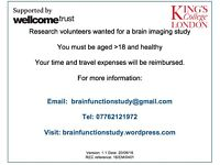 Research volunteers wanted for a brain imaging study