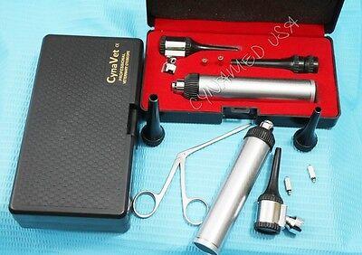 New Led Lense Veterinarysurgical Operating Otoscope Kit 1 Forcep1 Bulb