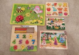 5 x Wooden Puzzles