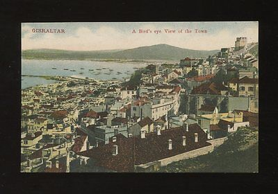 GIBRALTAR Bird's Eye view of the town c1920/30s? PPC