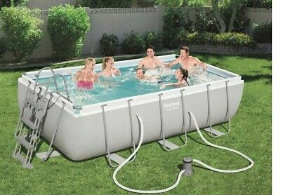 Piscina fuori terra Bestway Power Steel 404x201x100cm - pompa e scaletta - 56441