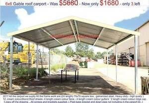 new  gable  carport 6 x 6 $ 1680 or 6  x 9 $ 2550 Ingleburn Campbelltown Area Preview