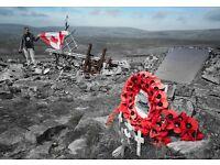 Brecon Beacon walk Crashed Wellington Bomber