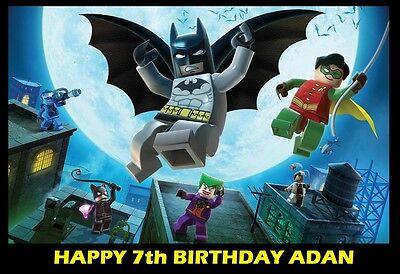 Lego Batman Edible image Cake topper decoration  (Lego Batman Cake)