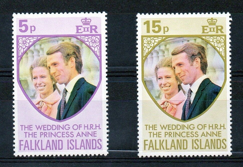 Falklands 1973 Royal Wedding MNH set