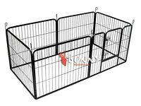Bunny Business Heavy Duty 6 Piece Puppy Dog Play Pen Run Enclosure