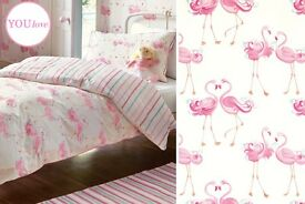 Laura Ashley Flamingo / Bedding / Throw /Fabric