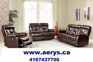 WHOLESALE FURNITURE WAREHOUSE LOWEST PRICE  WWW.AERYS.CA SOFA STARTS FROM $299 !!