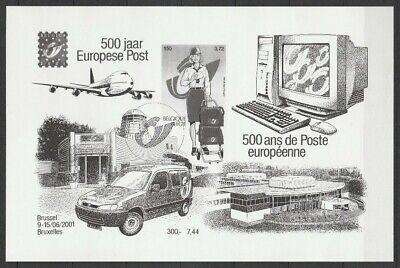 Belgien**500 Jahre Europa Post-Block Mi81-2001-CEPT Mitlaufer--Thurn&Tassis