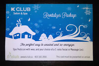 K Club gift certificate - perfect for Valentine's!