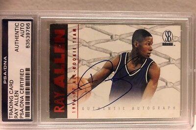Ray Allen 1996-97 Scoreboard All-Rookie Team Red Auto Autograph PSA/DNA COA Ray Allen Teams